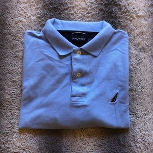 💙 Nautica Polo Shirt Men's Medium Blue